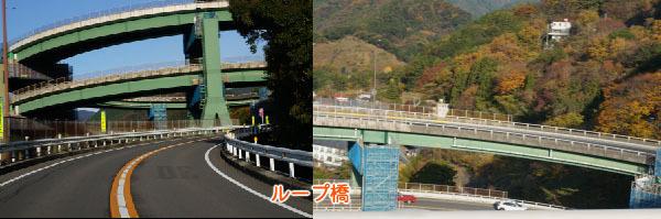 河津七滝近くのループ橋