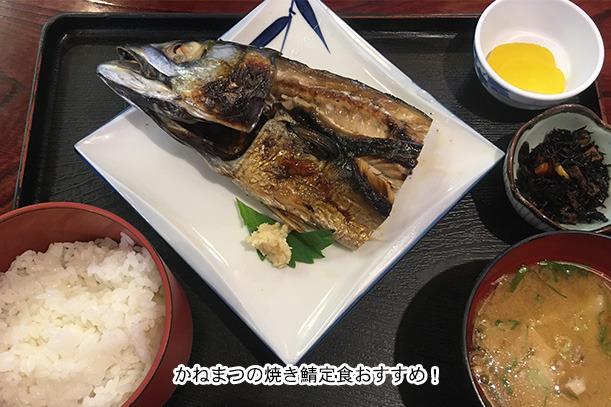 かねまつの焼き鯖定食