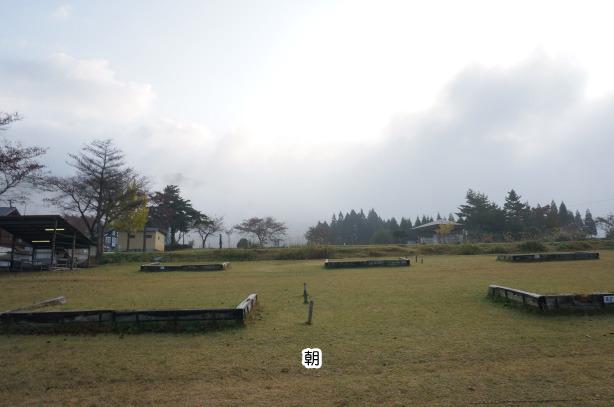 27-24六呂師高原キャンプ場の朝もや