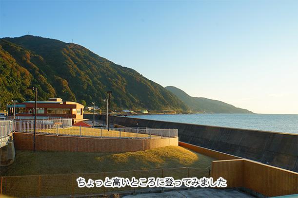 夕日と日本海
